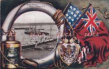 Canada Royal Navy Postcard. British fleet in Halifax. Nova Scotia. Pelorus. 1905