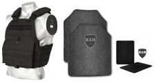 Body Armor | Bullet Proof Vest | AR500 Steel Plates Base Coat 10x12 6x6 -BLACK