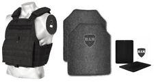Body Armor | Bullet Proof Vest | AR500 Steel Plates Base Coat 10x12 6x6 -BLACK