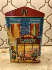 Beautiful Vtg Hershey's Candy Store Tin Box Empty 3D Container