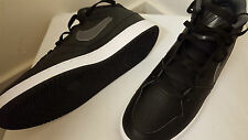NEW BOXED NIKE MENS PRIORITY MID BLACK & WHITE TRAINER UK 11.5 EUR 47 REF 644193