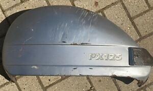 Vespa PX125 disc left LHS spare wheel side panel PIAGGIO silver good condition