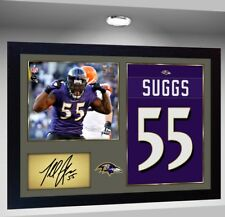Baltimore Ravens Terrell Suggs Nfl signed autograph American Football Framed