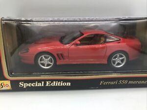 1/18 Maisto Special Edition 1996 Red Ferrari 550 Maranello JM Part # 31839