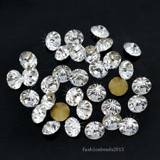 ss19 round color point back czech crystal rhinestones jewels glass chatons stone