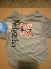 Nebraska Huskers Pet Jersey Gray M Medium, NCAA Licensed, New with Tag for Dogs