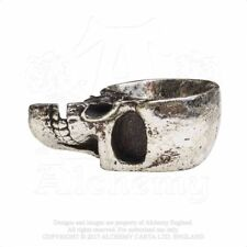 ALCHEMY ENGLAND Alternative Gothic Steampunk Resin TRINKET DISH Half Skull