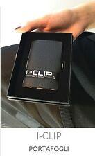 I-CLIP Iclip  CLASSICO NERO portafoglio con pelle di vitello Listino 35,90€.