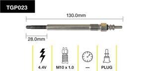 Tridon Glow Plug TGP023 fits Volkswagen Transporter/Caravelle 2.0 TDI