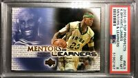 2003-04 Upper Deck Mentors & Learners LeBron James RC Kobe Bryant PSA 8