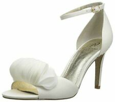 Adrianna Papell Gracie Heel Ivory Satin Shoe Bridal Size 9.5