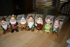 1939 Set Vintage Disney Snow White 7 Dwarves Ceramic Figures Enesco Japan+ Boxes