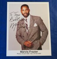 MARVIS FRAZIER SIGNED 8x10 PHOTO ~ BOXING ~ JOE FRAZIER'S SON ~ FOUGHT HOLMES