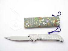 MCUSTA PROTOTYPE ALUMINIM HANDLE & VG-10 BLADE FOLDING POCKET KNIFE (Checkered)