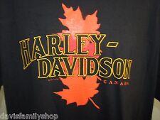 British Columbia Canada Maple Leaf Harley Davidson Shirt Size M Medium