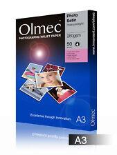 Olmec 260gsm Photo Satin Inkjet Paper A3/50 Sheets