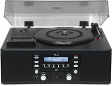 TEAC LP-R500 Phono/Cassette/CD Recorder/Radio Combination BLACK GARANZIA ITALIAN