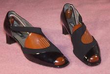 GABOR  ♥ Pumps ♥ Schuhe ♥ Gr. 8  ♥ *TOP* ♥   schw Lack Leder außen+Leder innen