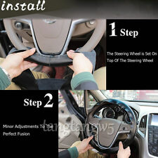 DIY 38CM PU Leather Car Truck Steering Wheel Cover With Needles Thread Universal
