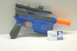 Hasbro Nerf Star Wars Force Awakens Han Solo Blaster Blue Dart Gun