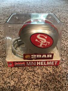 San Francisco 49ers NFL 1962-1963 Silver 2 Bar Throwback Riddell Mini Helmet New