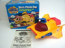 """Vintage Super Powers """"DELTA PROBE ONE"""" KENNER 1985 with box!"""