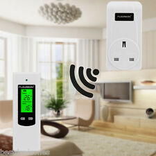 Digital LCD Wireless RF Plug In Remote Heating Thermostat Temperature Controller