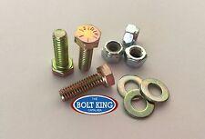 3/8 x 1 UNC Hex Bolt Zinc Yellow High Tensile grade 8 Kit 10 bolts/washers/n