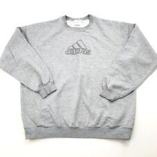 Adidas Mens XXL Vintage Gray Crewneck Sweatshirt Logo (654) trefoil