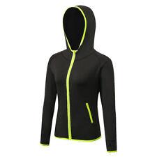 Hot Womens Jogger Tracksuit Zip Gym Fitness Sweatshirt Sports Yoga Hoodies Top 2xl Black Green