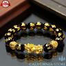 Feng Shui Black Obsidian Wealth Bracelet California-Store