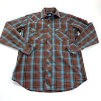 Resistol Mens Jarrett Plaid Snap Shirt