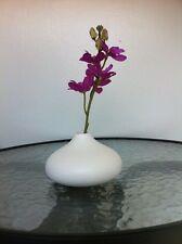 Modern Mango Wood White Vase Handmade #2 + Track