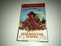 40 GRAVES FOR 40 GUNS Vintage Movie Pressbook 1971 Spaghetti Western MACHISMO