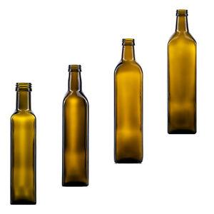 6-12 Ölflasche Marasca Olivenöl Speiseöl Essig inkl Deckel Glas Flasche Öl Saft