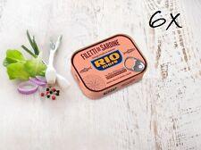 6 Rio Mare filetti sardine con peperoncino 120 gr Sardinen in Olivenöl mit Chili