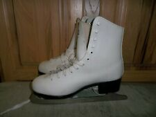 Girls Ccm Champion Deluxe Jamie Sale' & David Pelletier (Sp)Figure Skates Size 8