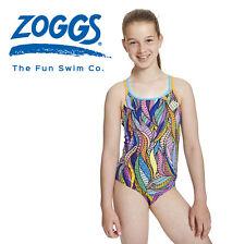 Badeanzug Zoggs Serpent Duoback Mädchen Kinder Schwimmanzug Spaghettiträger Kids