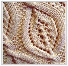 BB009 KNITTING PATTERN BEAUTIFUL LEAF ON THE WIND BABY BLANKET THROW