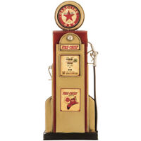 Fire Chief Gas Pump With Star Metal Wall Decor Vintage Intricate details Look.