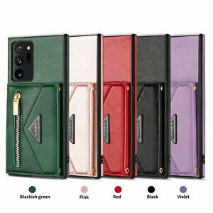 Leather Flip Stand Wallet Phone Case Cover For Samsung Galaxy S20FE S21 Note 20