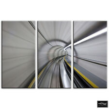 Subway London Underground   Urban BOX FRAMED CANVAS ART Picture HDR 280gsm