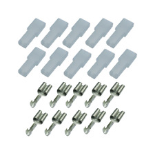 10 x Flachsteckhülse 6,3 ohne Rastzunge  0,75 -1,5 mm² mit Tülle Isolierung