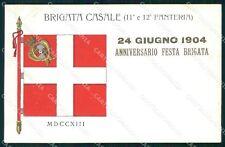 Militari 11º 12º Reggimento Fanteria Brigata Casale 1904 cartolina XF4386