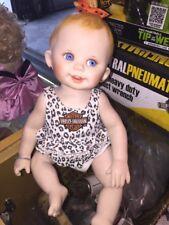 Franklin Mint Harley Davidson Porcelain Hailey Biker Baby Girl Doll