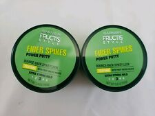 2-Pack Garnier Fructis Style Power Putty Fiber Spikes 3.4oz Extra Strong Hold #3