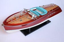 """RIVA TRITONE 24"""" (61cm)  Wood boat model Classic Riva Yacht Miniature Replica"""