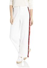 Bb Dakota Junior's Track Meet Heavy snap Sides Pants White size 4 28 x 34