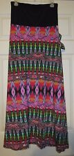 ADRESSING WOMAN WOMEN'S DRESS MAXI SKIRT MULTI COLOR M NWT