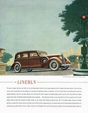 1936 BIG Original Vintage Lincoln Willoughby Limousine Motor Car Art Print Ad